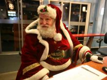When Santa Claus visits WRAL-TV, even grown-ups want to visit with him.