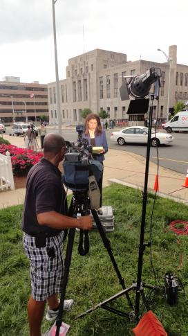 Behind the scenes at John Edwards' trial.