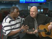 WRAL crew member sings 'Ain't No Sunshine'
