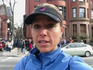 WRAL anchor Kelcey Carlson reports from the Boston Marathon explosion on April 15, 2013.