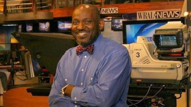 Producer/director Clarence Williams in the WRAL newsroom