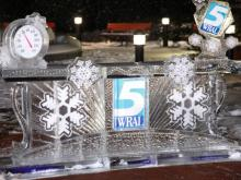 Crews worked overnight on Jan. 30, 2014 to complete construction of WRAL's first ice desk.