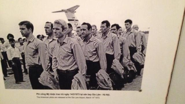 A photograph of John McCain and others after their release from Vietnam. (Photo courtesy of Clarence Williams)