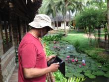Paul Pope in Vietnam (Photo by Clarence Williams)