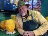 Carver creates Greg Fishel pumpkin