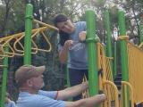 Volunteers put finishing touches on new Raleigh playground