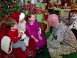 Santa Claus helps soldier surprise his kids after 9-month deployment