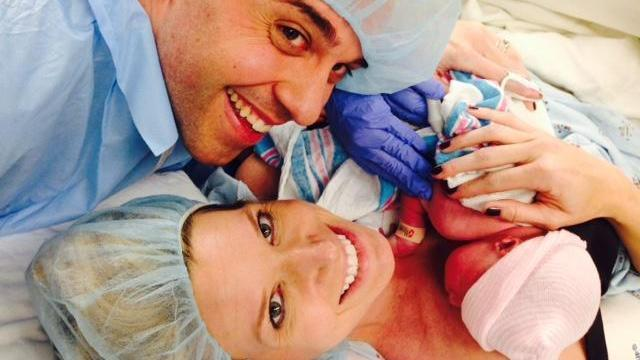 Kathryn Brown and husband welcome twin daughters.