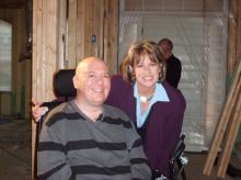 Debra Morgan visits with Dugan Smith in 2009. (Photo courtesy Autumn Smith)