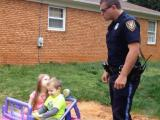 Police officer pulls over his kids for being 'too cute'