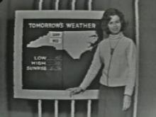 Marlene Carole was WRAL-TV's first female forecaster