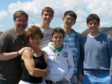 The Cordes family of Raleigh has hosted more than a dozen exchange students from countries all over the world. (Cordes family photos)