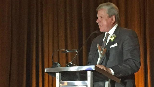 David Crabtree on Thursday accepted the 2016 national Gabriel Award for Secular Television Station on behalf of WRAL-TV.