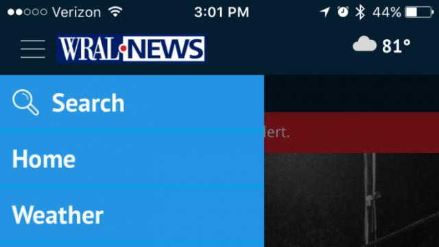 WRAL app search