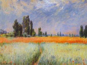 Claude Monet, Wheat Field, 1881, oil on canvas, 25 3/4 x 32 in., The Cleveland Museum of Art, Gift of Mrs. Henry White Cannon