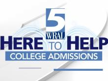 WRAL Here to Help: College admissions