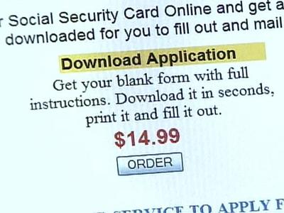 An area woman found out after she had paid $14.99 that she could have obtained a Social Security Administration form for free, and she had to send it to the government for processing anyway.