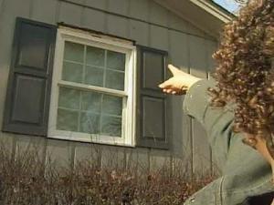 Ten new windows installed at Leslie Pinckney's home had a big gap around them.