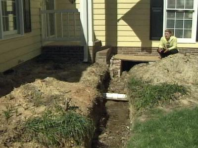 Frances Cronlund said she hired Phil Piurkoski to build a front porch for her home. She said since he has not finished the work she is left with a moat in her front yard.
