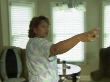 Fayetteville woman fights for drapes