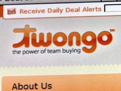 Twongo.com offers discounts like $16 for a meal valued at $40 and 55 percent off of spa treatments.