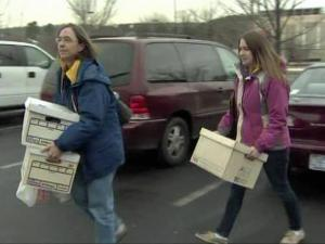 Donations came in steadily Thursday at the Goodwill Community Foundation Center in Raleigh.