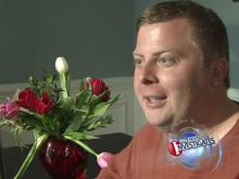 What was supposed to be a sweet, romantic Valentine's Day gesture on the part of Jeff Dudash, of Raleigh, turned out to be a delivery disaster.