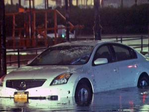 Flood-damaged cars
