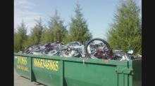 IMAGES: Trash or treasure? Tossed bicycles prompt questions