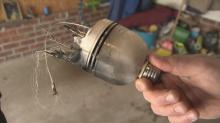 IMAGE: Raleigh man reconsiders compact fluorescent bulbs after close call