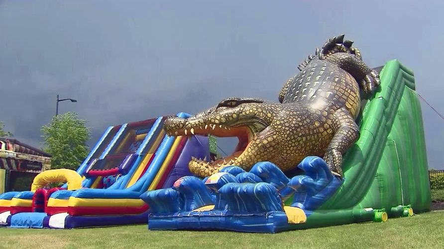 bounce house safety questioned after two swept away wralcom