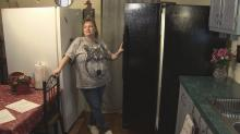 IMAGES: Defective refrigerator replaced after multiple attempts to fix
