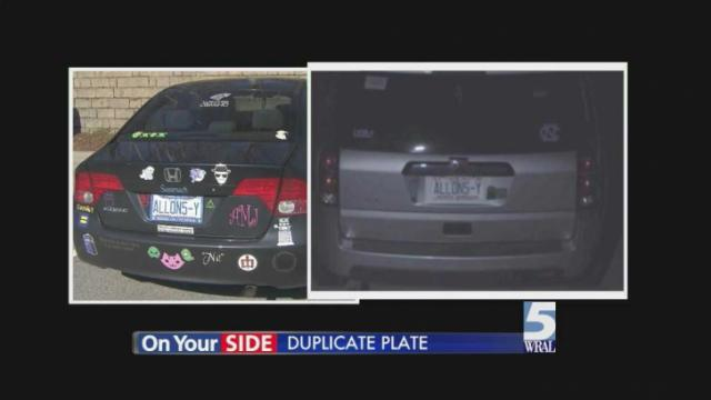 Uncommon NC license plate sparks confusion :: WRAL com