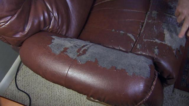 Peeling Leather Furniture Prompts Customer Complaints Wralcom