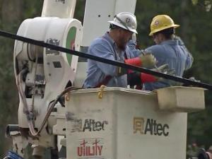 Duke Energy restored power to hundreds of thousands of customers after Hurricane Matthew.