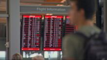 Flight board at RDU