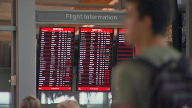 Arrival information at Raleigh-Durham International Airport.