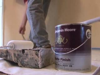 Adopting the proper room painting technique can save you from a second coat.