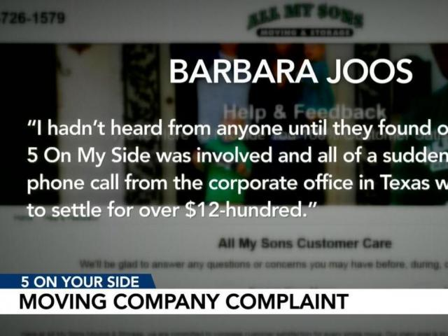 5 On Your Side helps woman get refund from moving company