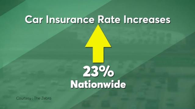 Car insurance rates have increased recently