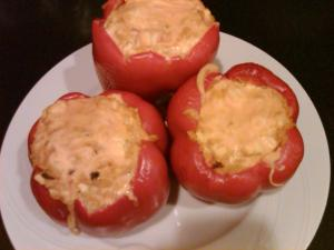 Tofu Stuffed Red Peppers