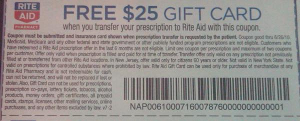 Rite Aid Prescription Transfer Coupon example
