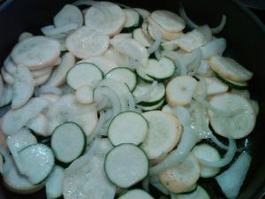 Sauteed zucchini, squash and onions