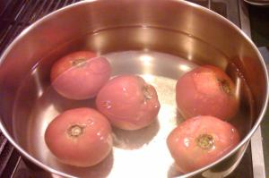Tomatoes getting blanched