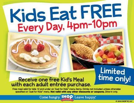 IHOP Kids Eat FREE!