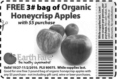Free apples at Earth Fare!