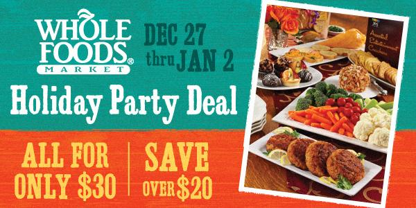 Whole Foods party deal
