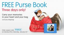 IMAGE: Free purse photo book through Saturday at Walgreens.com
