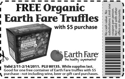 Earth Fare truffles
