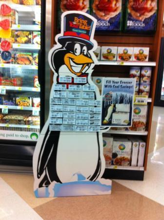 Penguin coupon display